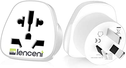 LENCENT 2X World to Australia Travel Adapter, Visitor from USA/Europe/United Kingdom to 3 Pin AU Adapter Plug [USA to AU A...