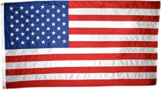 Best Annin Flagmakers Model 2300 American Flag 6x10 ft. Nylon SolarGuard NYL-Glo, 100% Made in USA with Sewn Stripes Embroidered Stars and Brass Grommets Review