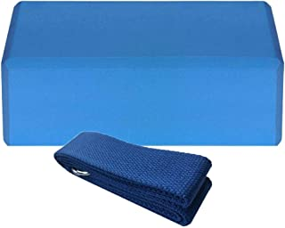 2pcs EVA Yoga Blocks 1pcs Cotton Yoga Strap Stability Blocks Yoga Strap Set for Yoga Pilates Meditation Sports Exercise Gy...