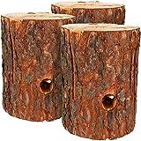 com-four® Feu suédois 3X avec mèche d'allumage, Torche à ailettes pour Les Zones de Cuisson extérieures, Torche d'arbre, Torche de Jardin