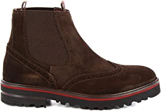 LEONARDO SHOES Luxury Fashion Mens M63190VELURBROWN Brown Ankle Boots | Season Permanent