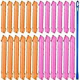 40 Piezas Kit de Rizadores del Cabello Rulos de Pelo Espirales Rodillos de Pelo Flexibles Rizadores del Cabello sin Calor con Ganchos para Mujeres Niñas Herramientas de Peinado