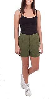 Robbi & Nikki Pleated Tencel Shorts, Seaweed, 10