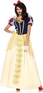 Womens Deluxe Snow White Ball Gown Costume Multicolor