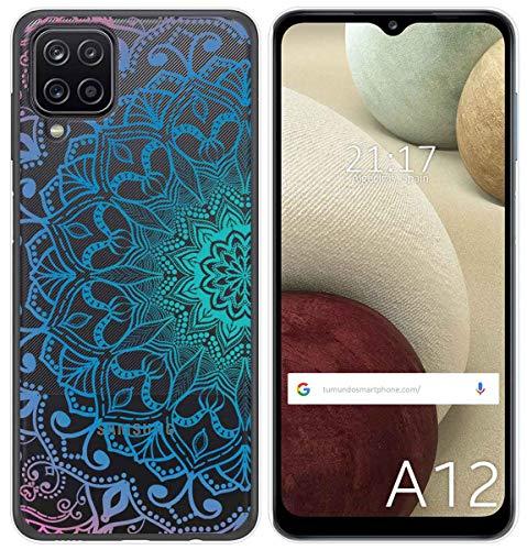 Funda Gel Transparente para Samsung Galaxy A12 diseño Mandala Dibujos