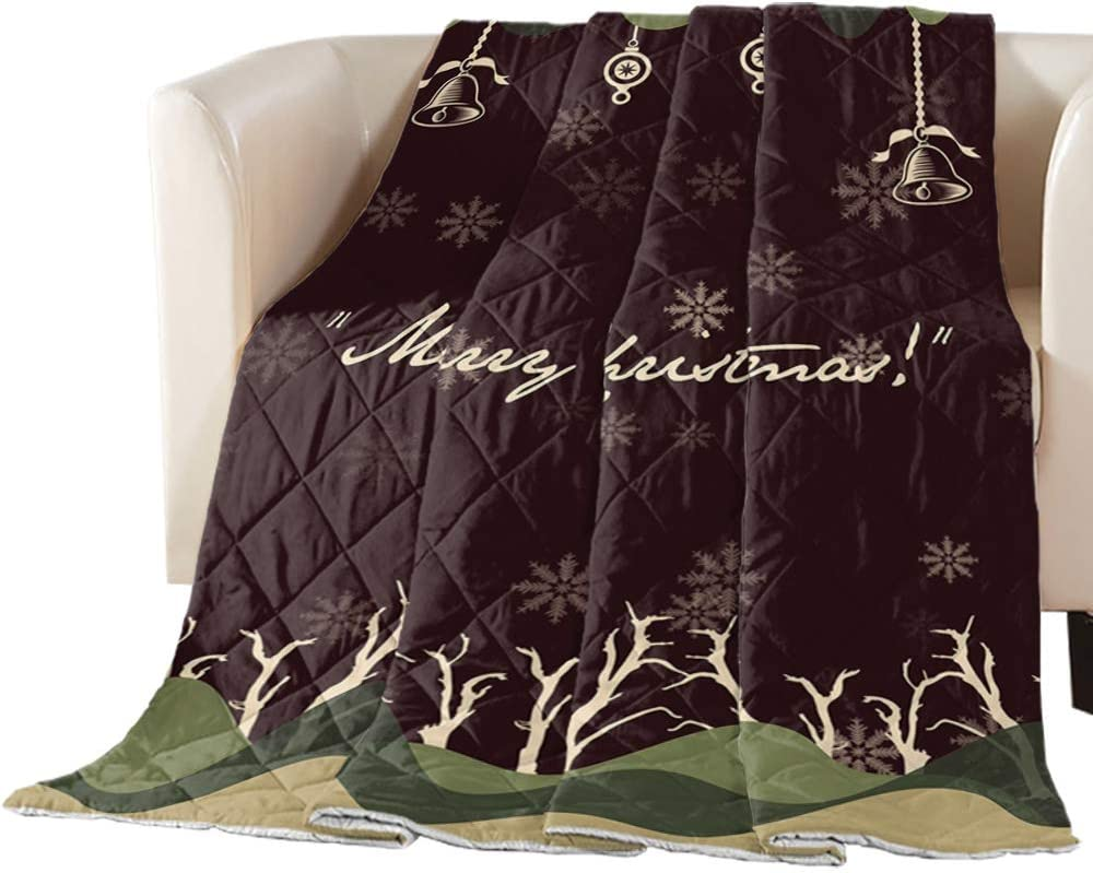 Arts Free shipping Language Bedspread Quilt Twin Merry Snowflak Christmas Size Denver Mall