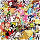 Cartoon Mickey Mouse Pegatinas YUESEN 112PCS Mickey Mouse Blancanieves Equipaje Piano Coche Biciclet...
