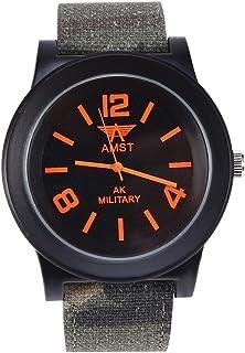 VGEBY Reloj Analógico de Cuarzo, Esfera de Vidrio con Reloj de Pulsera Militar con Correa de Camuflaje para Hombres y Mujeres