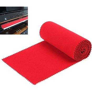 OriGlam – Protection anti-poussière souple pour clavier de piano 88 touches, pour clavier électronique, piano numérique, rouge