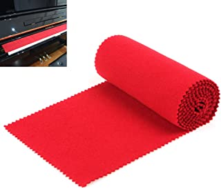 【The Best Deal】OriGlam Red Soft Piano Keyboard Dust Cover, 88 Keys Protective Dust Cover Key Cover for Electronic Keyboard, Digital Piano