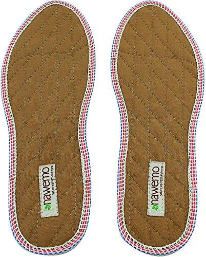 Nawemo Zimtsohlen, geruchsbindende Zimteinlegesohlen gegen Schweißfüße, Fußgeruch, Fußpilz und Nagelpilz, dünne Einlegesohlen braun (1er Pack/1 Paar), Größe 46 EU