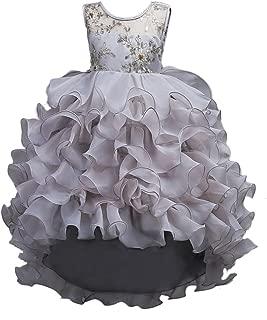 Flower Big Girl Princess Tutu Dress Wedding Bridesmaid Pageant Party Formal Evening Dance Ball Gown