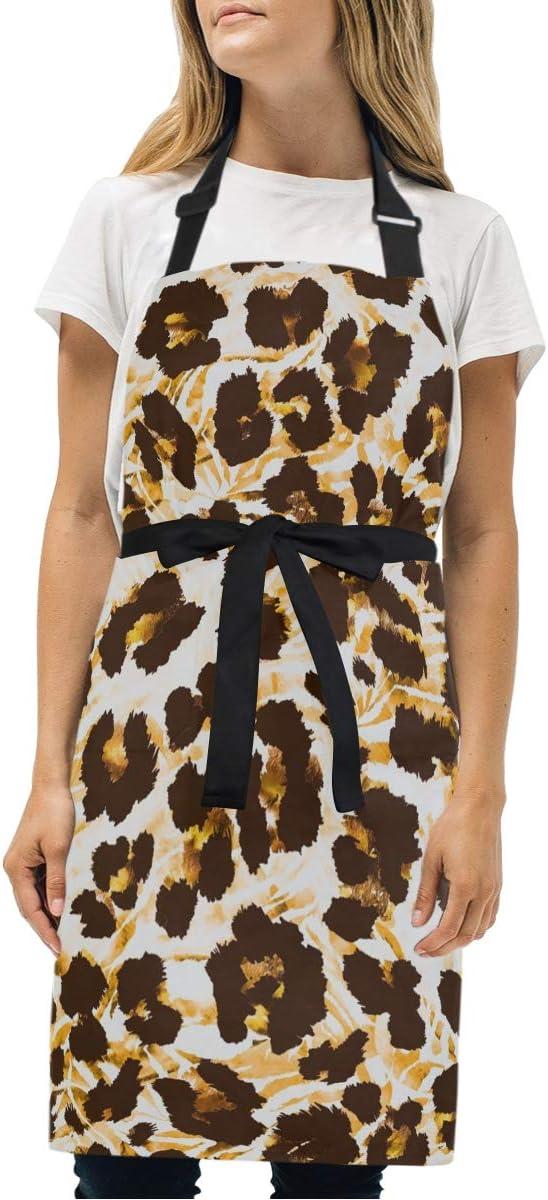 Fashion Leopard and Zebra Skin Tie for Dye Apron Women Men Max San Jose Mall 70% OFF Adjus