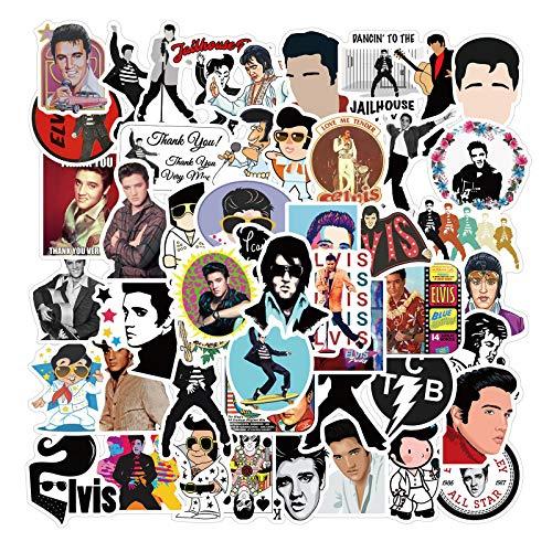 Rock singer Elvis Presley graffiti stickers computer suitcase ipad waterproof stickers 50PCS