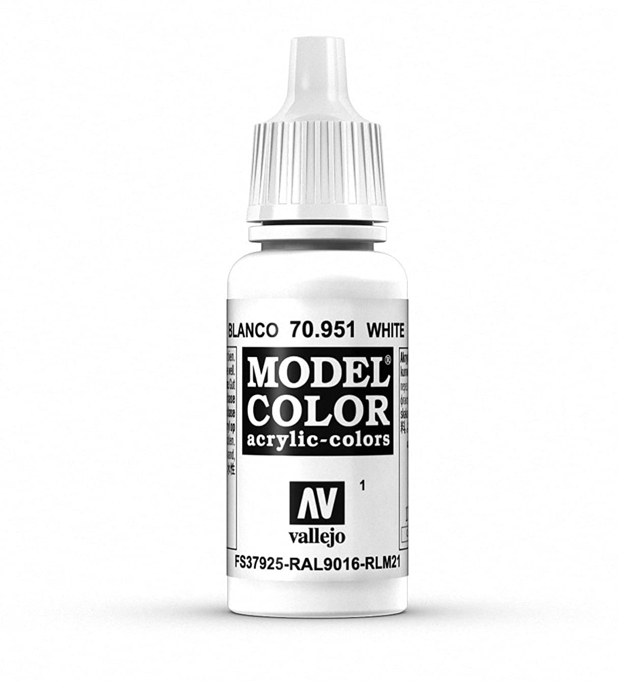 Vallejo White Model Color 2 Paint, 17ml
