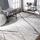 nuLOOM Thigpen Contemporary Area Rug, 6' 7' x 9', Grey