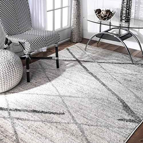 nuLOOM Lattice Thigpen Contemporary Area Rug, 8' 2' x 11' 6', Grey, Gray