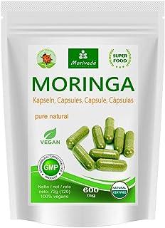 Moringa cápsulas 600mg o Moringa Energia Tabs 950mg -