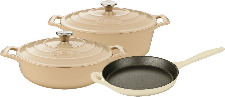Limited Special Price La Houston Mall Cuisine Piece Enameled Cast Iron 5 Pro pc 3.75QT S Set Range