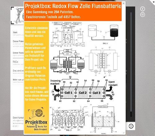 Redox Flow Zelle Flussbatterie: Deine Projektbox inkl. 284 Original-Patenten bringt Dich mit Spaß hinter die Geheimnisse der Technik!