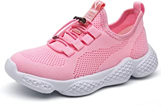 PAMRAY Kids Sport Shoes Boys Girls Tennis Athletic Walking Jogging Slip on Sneakers