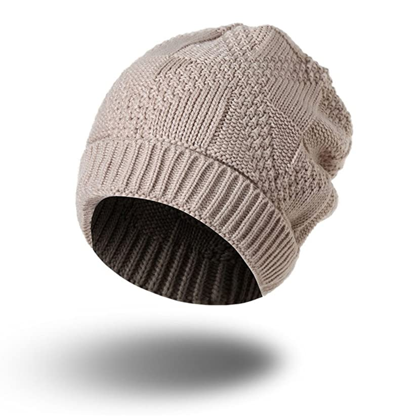 PASATO Men Women Keep Warm Knit Baggy Beanie Oversize Winter Hat Ski Simple and Versatile Slouchy Chic Cap