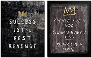 asasI9 Motivational Graffiti Quote Wall Art Canvas Painting Success Is The Best Revenge..