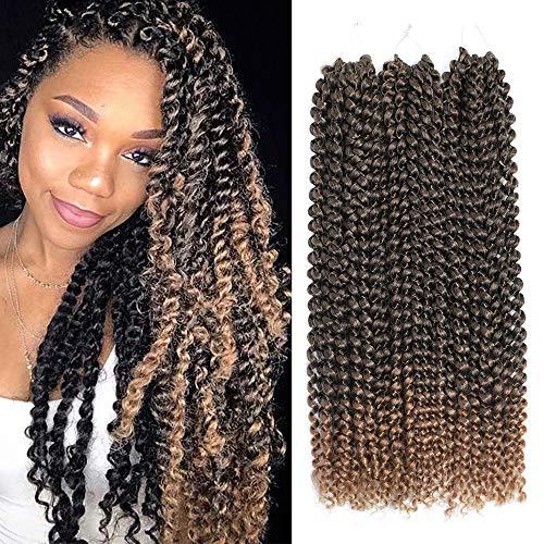 Ali Show-Passion-Lot de 3 paquets de cheveux torsadés en fibre kanekalon torsadés, crochet, 45 cm environ