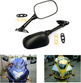 MZS Motorcycle Mirrors Rear View compatible Suzuki GSXR600 GSX R600 2001-2012/ GSXR750 GSXR 750 2001-2012/ GSXR1000 GSXR 1000 2001-2012/ GSX650F 2008-2012/ SV650 SV650S SV1000 SV1000S 2003-2008