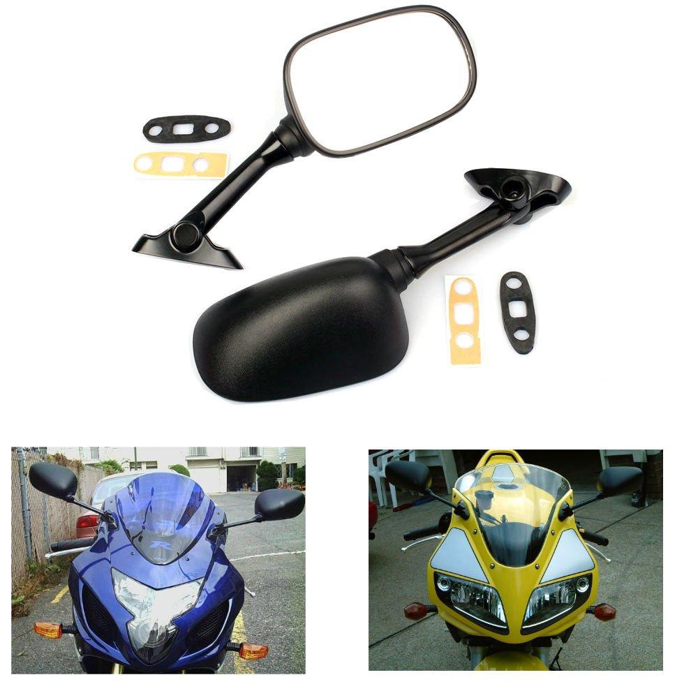 HTT Motorcycle Black Smoke Integrated Turn Signal Mirrors For 2006-2015 Suzuki GSX-R 600 750// 2001-2015 GSX-R 1000//2003-2008 Suzuki SV650 SV650S//2003-2007 SV1000 SV1000S
