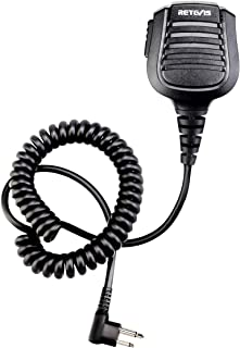 Retevis Shoulder Speaker Mic Walkie Talkie Mic IPX5 Waterproof 3.5mm Audio Jack for Motorola CLS1110 CP200 RMV2080 CT150 GP2000 Two Way Radio (1 Pack)