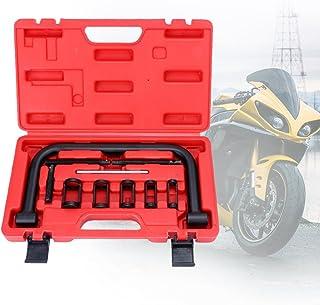 BMOT Universal Ventilfeder Ventilfederspanner Montage Werkzeug Ventilfederpresse Satz 10 TLG Mit Koffer, für Motorräderr