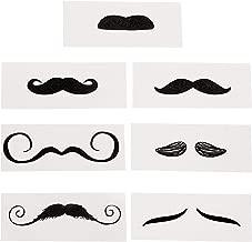 Fun Express - Lifesize Mustache Tattoo Assortment - Apparel Accessories - Temporary Tattoos - Regular Tattoos - 12 Pieces