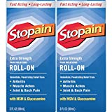 Stopain Extra Strength Pain Relief Roll-On 3 Ounce (2 Count)
