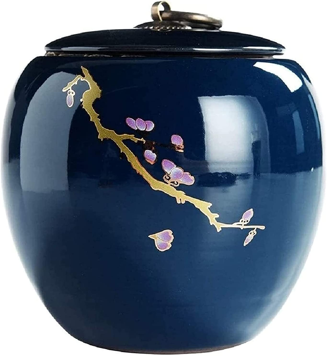 OLLY- Urns Funeral Urn Medium Ash Canister Blue Max 81% OFF Decorative Size Columbus Mall