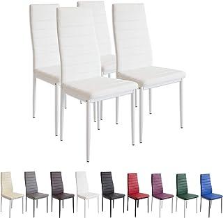 comprar comparacion Albatros 2552 Milano Set de 4 sillas de Comedor, Blanco