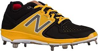 Low-Cut 3000v3 Mens Cushioning Metal Baseball Cleat Black/Yellow