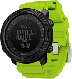 CakCity Men's Military Watch Outdoor Sports Digital Watches for Men with Compass Temperature, Steps Tracker, Large Dial, M...