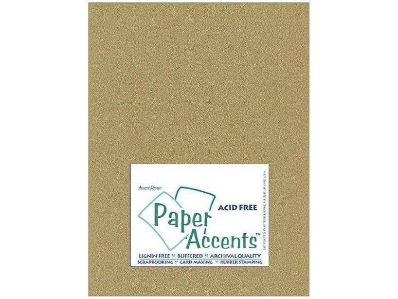 Accent Design Paper Accents PearlCardstock8511GoldLeaf Cdstk Pearlized 8.5x11 92# Gold Leaf