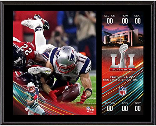 Julian Edelman New England Patriots 12'' x 15'' Super Bowl LI Champions Sublimated Plaque with Replica Ticket - NFL Player Plaques and Collages