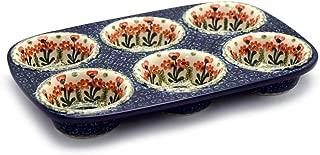polish pottery muffin pan