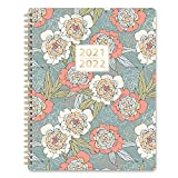2021-2022 Planner - Academic Planner 2021-2022 Weekly & Monthly with Tabs, 8' x 10', Jul. 2021 - Jun. 2022, Hardcover with Back Pocket + Thick Paper + Twin-Wire Binding - Abstract Rose