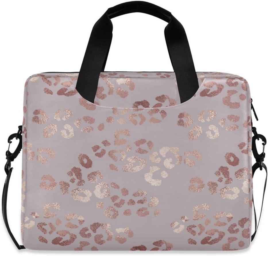 Gifts Manufacturer regenerated product ALAZA Rose Gold Leopard Cheetah Print Sleev Laptop Pink Case Bag
