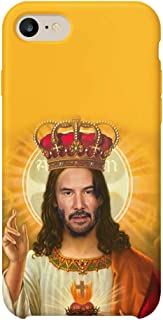 Saint Keanu Reeves Jesus_MA0773 Case Cover Hard Plastic for iPhone 6 6S Protective Phone Mobile Smartphone Funny Gift Christmas