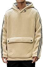 iOPQO Men's Pullover Heavy Blend Fleece Long Sleeve Warm Hoodie with Big Kangaroo Pocket