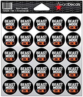 Award Decals Beast Mode Full Color Decals (100 Stickers)
