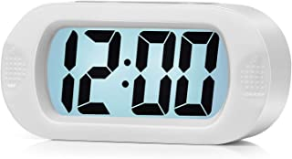 Kids Alarm Clock - Plumeet Large Digital LCD Travel Alarm Clocks with Snooze and Night Light - Ascending Sound and Handhel...