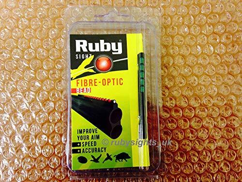 RUBY FIBRE OPTIC SHOTGUN SIGHT GREEN BEAD 71MM HUNTING SPORTING