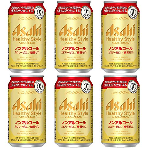 [Pack of 6] [Japan No. 1 Best NA Beer] ASAHI 0.00% Non-Alcohol, Premium Japanese Beer Beverage, , Zero Calories And Gluten Free (HEALTHY STYLE)