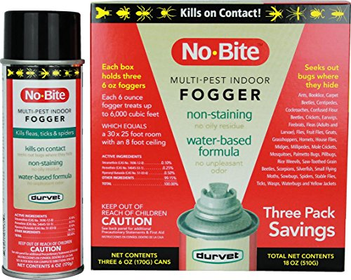 Durvet 011-1135 No-Bite Multi-Pest Indoor Fogger (3 Pack), 6 oz